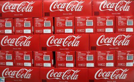 FILE PHOTO - Coca-Cola cartons are seen in a Casino supermarket in Mouans Sartoux
