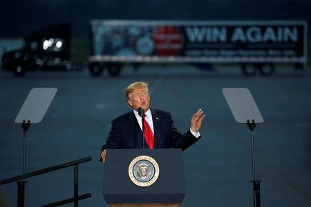 U.S. President Donald Trump speaks about tax reform in Harrisburg, Pennsylvania