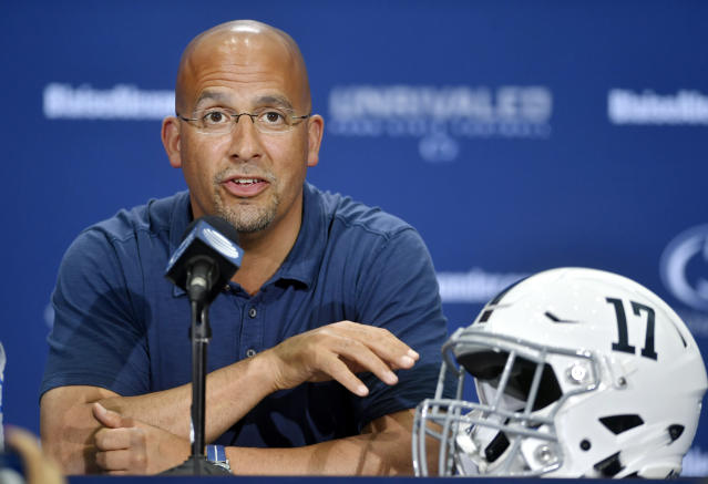 James Franklin is entering his fourth season at Penn State. (AP)