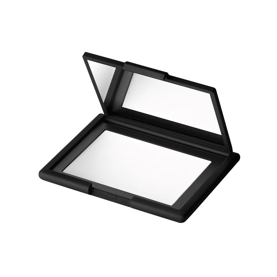 "<p>Another mess-free option that will give skin a luminous but matte finish: <a href=""https://www.allure.com/review/nars-light-reflecting-setting-powder?mbid=synd_yahoo_rss"" rel=""nofollow noopener"" target=""_blank"" data-ylk=""slk:Nars Light Reflecting Pressed Setting Powder"" class=""link rapid-noclick-resp"">Nars Light Reflecting Pressed Setting Powder</a>. The compact version of a <a href=""https://www.allure.com/review/nars-light-reflecting-setting-powder-loose?mbid=synd_yahoo_rss"" rel=""nofollow noopener"" target=""_blank"" data-ylk=""slk:Best of Beauty Award winner"" class=""link rapid-noclick-resp"">Best of Beauty Award winner</a> is crystal-clear on skin of all complexions, but gives it a filter-like, soft-focus glow.</p> <p><strong>$37</strong> (<a href=""https://shop-links.co/1711967609921730547"" rel=""nofollow noopener"" target=""_blank"" data-ylk=""slk:Shop Now"" class=""link rapid-noclick-resp"">Shop Now</a>)</p>"