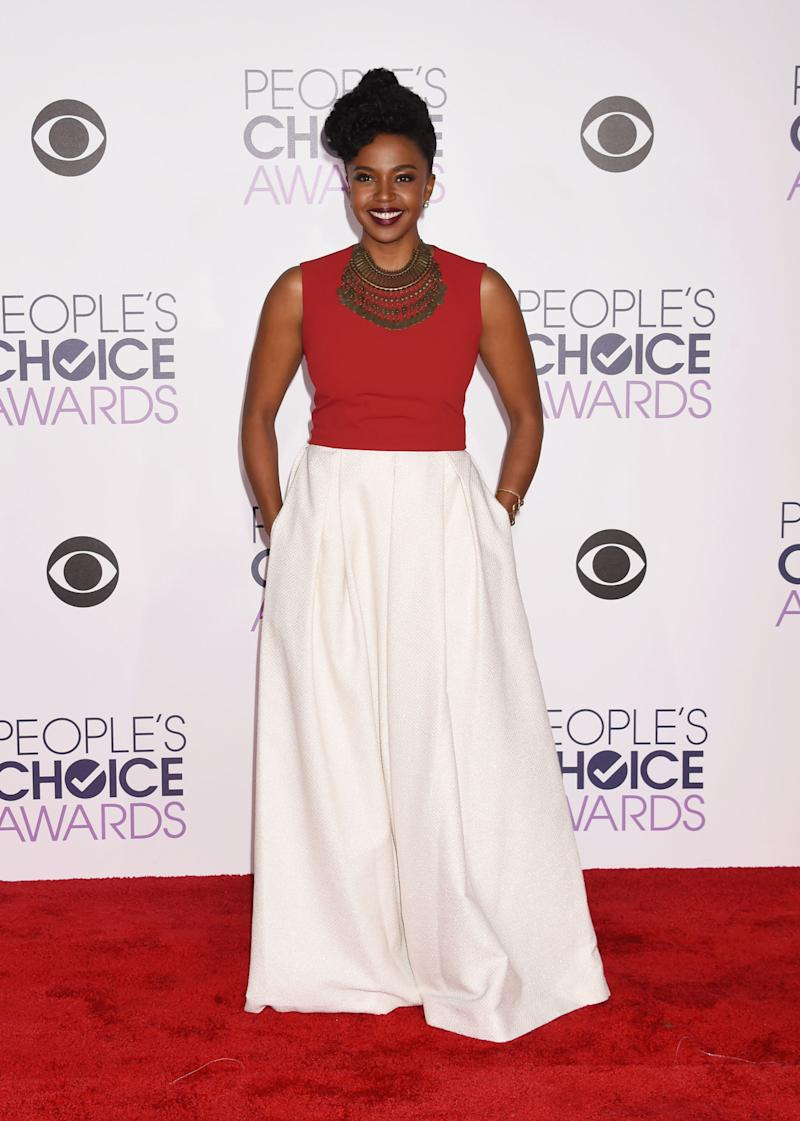 Grey\'s Anatomy\'s Jerrika Hinton Shopped Her Closet For the People\'s ...