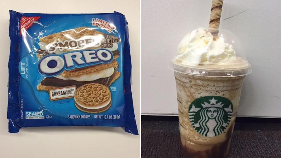 Going S'mores Crazy With New S'mores Oreos and S'mores Frappuccino (ABC News)
