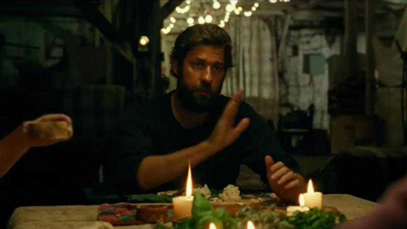 The family have to communicate in sign language to stay silent. Source: Paramount Pictures