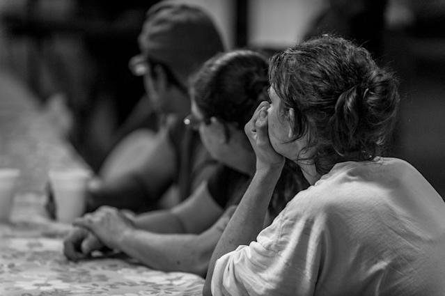 """<p>Neighborhood residents attend a free Sunday breakfast and church service at La Requena Belen church in Middletown, Ohio. """"Addiction can take us as its slaves,"""" announces the pastor. (Photograph by Mary F. Calvert for Yahoo News) </p>"""