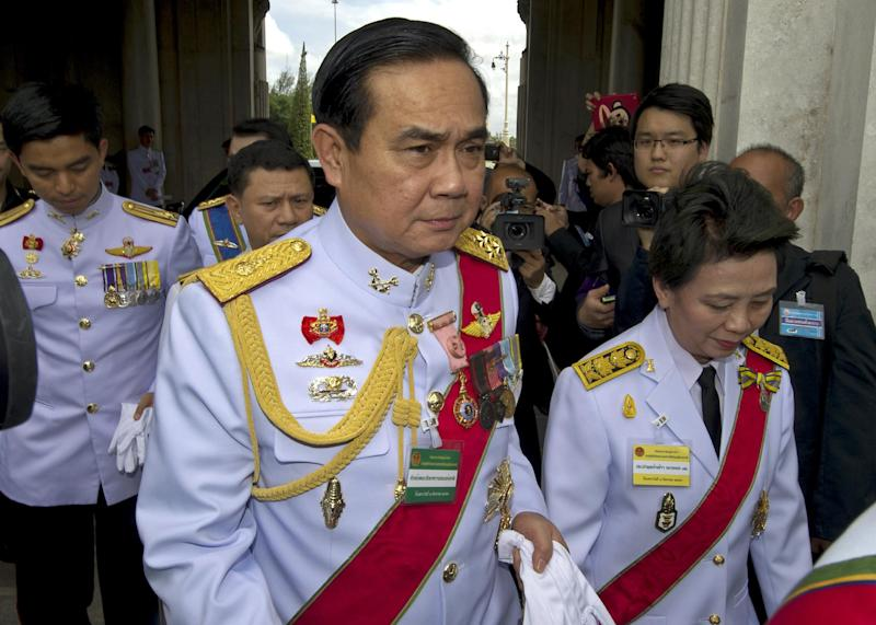 Thai coup leader General Prayut Chan-O-Cha pictured in Bangkok on August 7, 2014 (AFP Photo/Pornchai Kittiwongsakul)