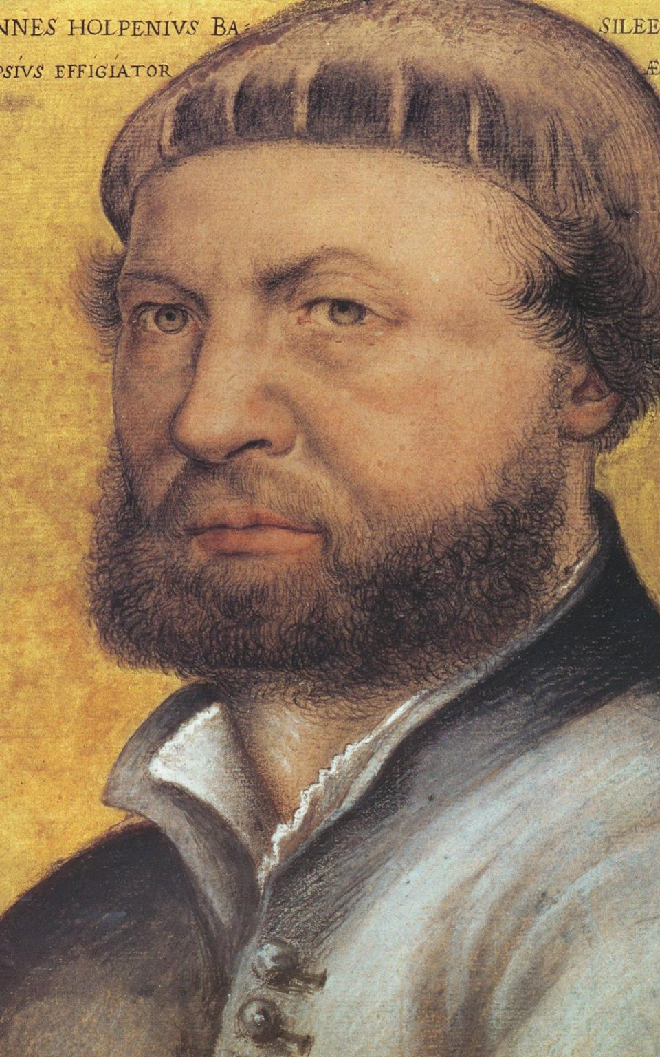 A later self-portrait by Holbein the Younger