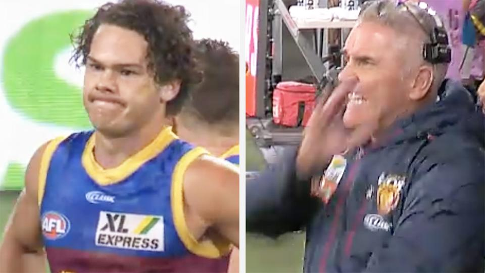 A 50-50 split image shows Cam Rayner on the left and Chris Fagan on the right.