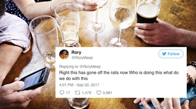 A student in northern England appealed to strangers over Twitter to send free birthday drinks for his friend on Wednesday afternoon.