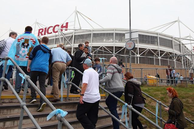 A decision on Coventry's future as a member of the English Football League has been postponed from Thursday until Wednesday 29 May, the league has announced.The League One club had been given until 25 April to tell the league where they intend to play their home games next season, having fallen out with their landlords at the Ricoh Arena for the second time in six years.But with the Sky Blues losing to Portsmouth on Monday, there is now little chance of them reaching the play-offs, which gives them and the league a little longer to sort out a crisis that has brought Coventry to the brink of league expulsion.It may even provide enough time for the Sky Blues to reach a deal to stay at the Ricoh, as the club have confirmed they have now started talking about a new tenancy agreement.Last time this dispute reared up, Coventry ended up playing at Northampton's Sixfields for a year – a situation the league is desperate to avoid as it infuriated fans and poisoned relations between the respective owners of the club and the stadium that was built for them a decade before. * Read more Coventry forced out of home as legal battle over Ricoh Arena continuesUnfortunately, that relationship has not been repaired, with Sisu, the hedge fund which owns the Sky Blues, continuing its legal fight against Coventry City Council and Wasps, the rugby union club which bought the Ricoh Arena from the local authority in 2014.Sisu, which has always wanted to buy the stadium, believes that sale was unlawful, but has now twice been defeated in the courts over the matter. In the meantime, it has allowed the tenancy agreement the Sky Blues agreed when they returned to Coventry in 2014 to run down.The EFL has repeatedly warned Coventry they must tell the league what they are planning to do next season and have also said, if a new agreement cannot be reached at the Ricoh, they do not want the club moving more than six miles away.As Wasps have previously refused to negotiate a new deal with Sisu until 