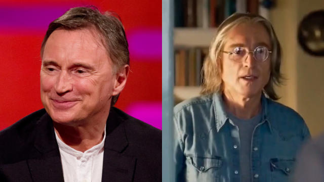 Everyone involved is being very hush-hush about it, but the actor who pops up as John Lennon in the Beatles musical <em>Yesterday</em> is regular Danny Boyle collaborator Robert Carlyle. (Credit: Isabel Infantes/PA Images/Universal)