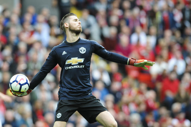 Manchester United goalkeeper David de Gea kept Liverpool out with five incredible saves last weekend.