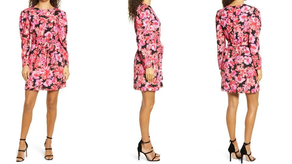 Fraiche by J Kanya Puff Long Sleeve Tie Waist Minidress - Nordstrom, $43 (originally $108)