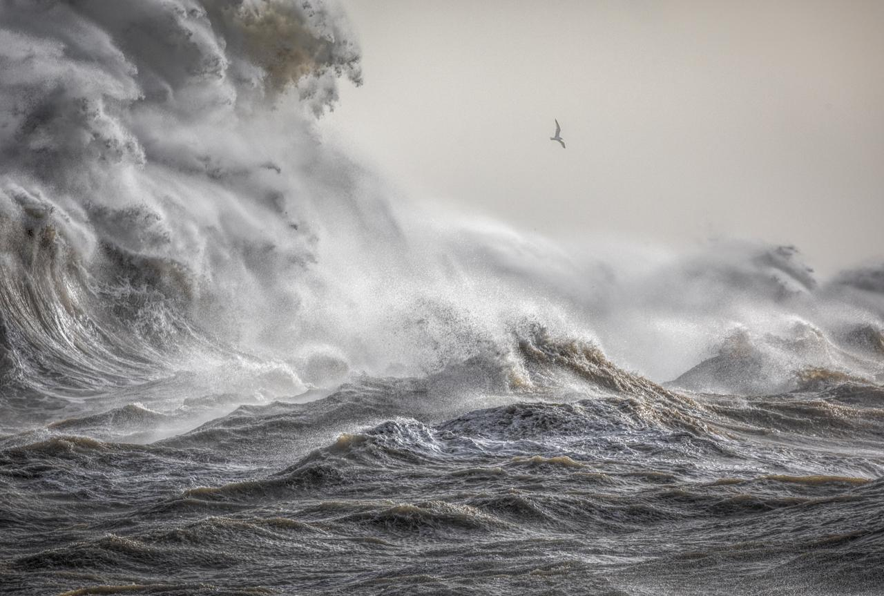 <p>The Wrath of Eleanor – Bill Brooks: The shot was taken at Newhaven Harbour in East Sussex. The shape of the beach, together with the harbour wall there, are well known for amplifying the waves in westerly storm conditions. </p>