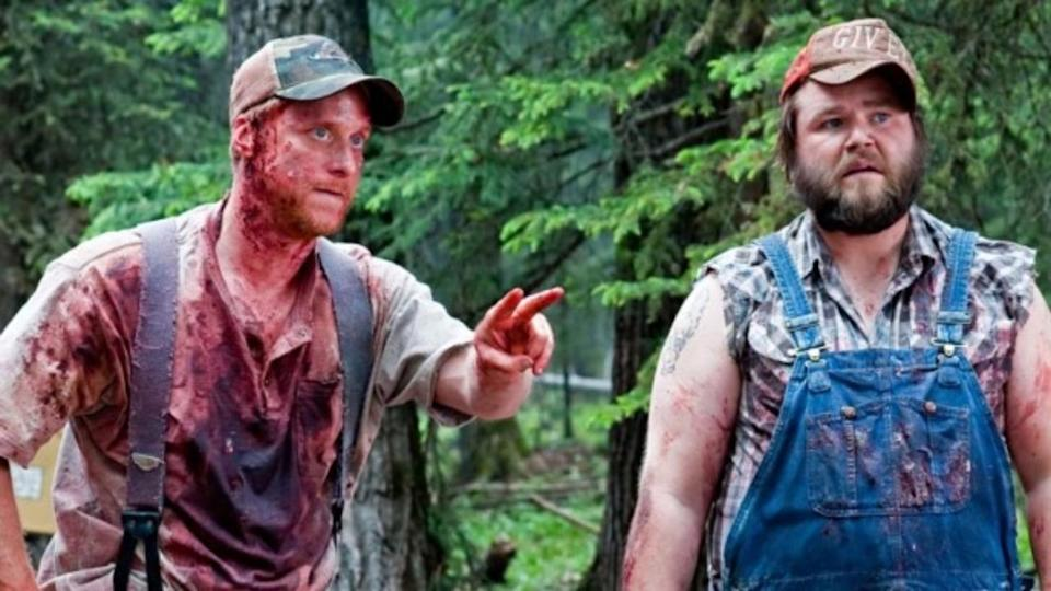 <p> If you like your movies a little more murderous (yet still tongue-in-cheek) this Halloween, look no further than Tucker and Dale vs. Evil. The pair of unwitting hillbillies face off against college kids after a horrorshow of a misunderstanding. It's a neat subversion of the sexy teen slasher flicks of the past, while also being very, very funny. There are loads of icky, hilarious deaths too – if that's your thing. </p>