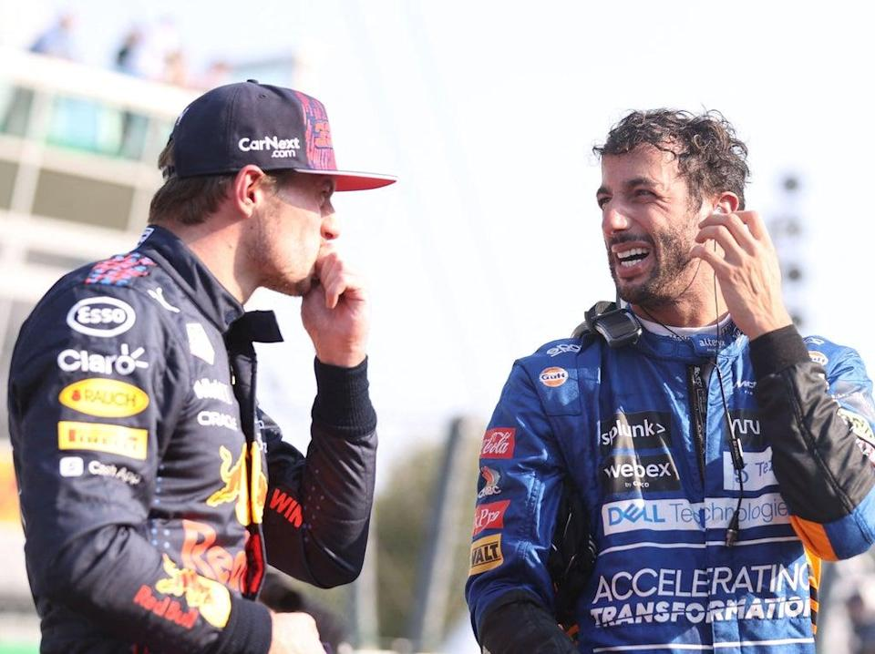 Max Verstappen (left) and Daniel Ricciardo are former Red Bull teammates  (POOL/AFP via Getty Images)