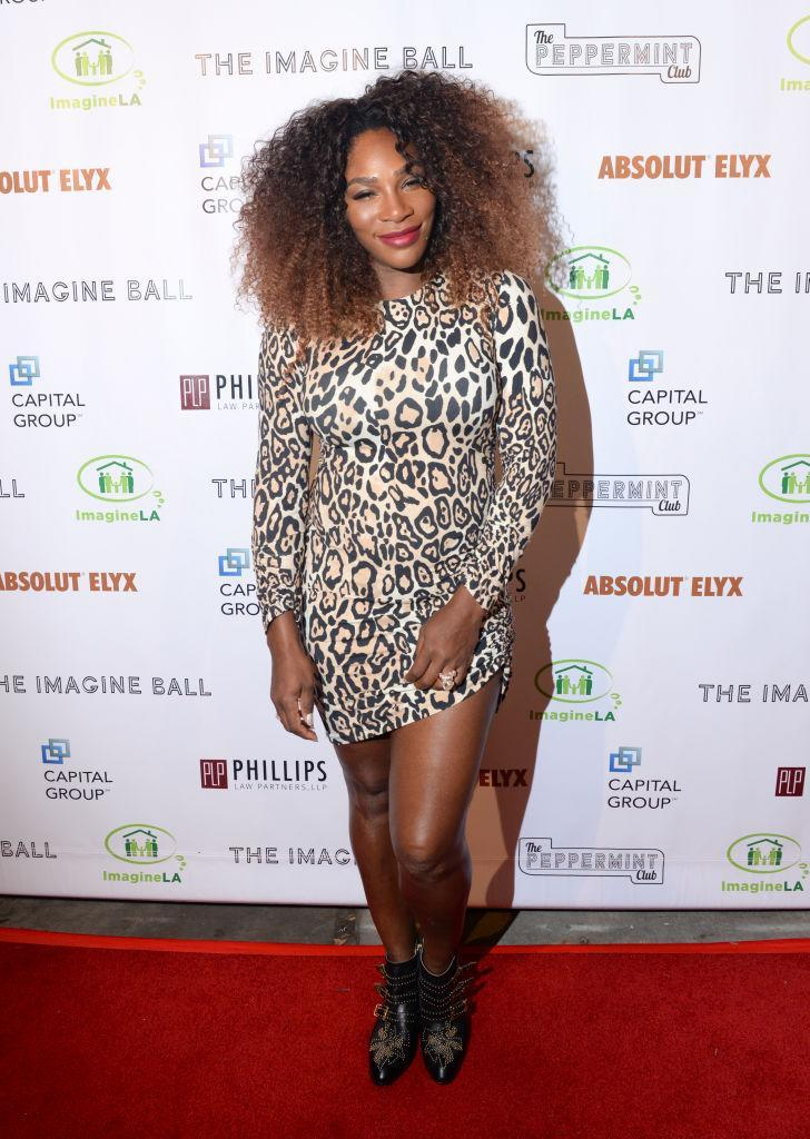 <p>On September 23, Serena Williams proved animal print is back this season in a leopard print dress at the Imagine Ball. <em>[Photo: Getty]</em> </p>