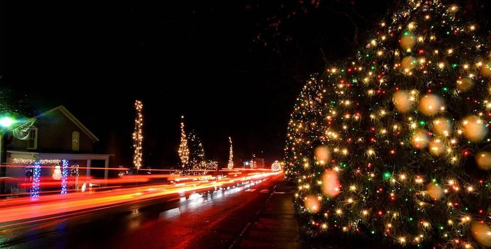 Lights will be up in McAdenville through Dec. 26.