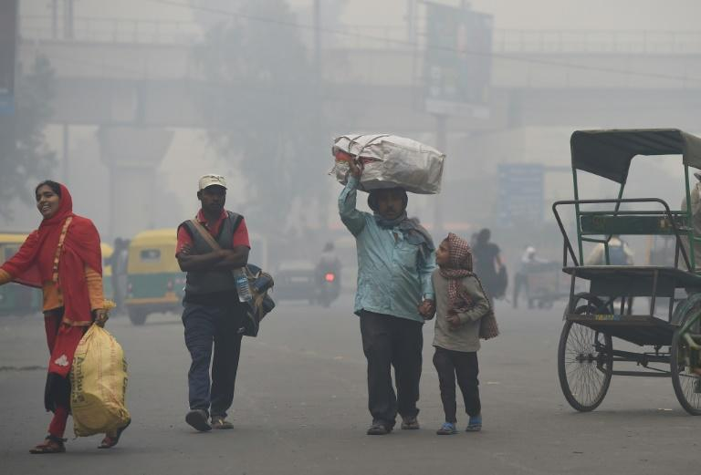 For the well-heeled in New Delhi, eating out means enjoying a gourmet spread amid sprawling green spaces but the poor must deal with dust and toxic fumes from vehicles zipping past rickety roadside food stalls in the world's most polluted major city