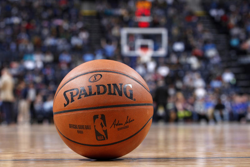 MEMPHIS, TN - JANUARY 26: A detail view of official Spalding NBA basketball on the court during a game between the Memphis Grizzlies and Phoenix Suns at FedExForum on January 26, 2020 in Memphis, Tennessee. The Grizzlies defeated the Suns 114-109. NOTE TO USER: User expressly acknowledges and agrees that, by downloading and or using this Photograph, user is consenting to the terms and conditions of the Getty Images License Agreement. (Photo by Joe Robbins/Getty Images)