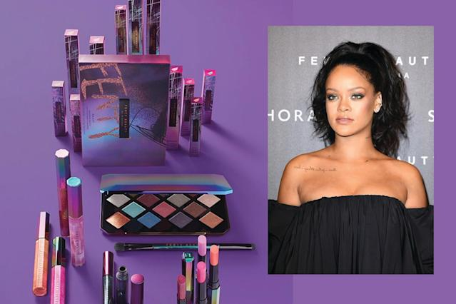 Fenty Beauty is taking the beauty world by storm, one new collection at a time. (Photo: Twitter/Rihanna/Getty Images)