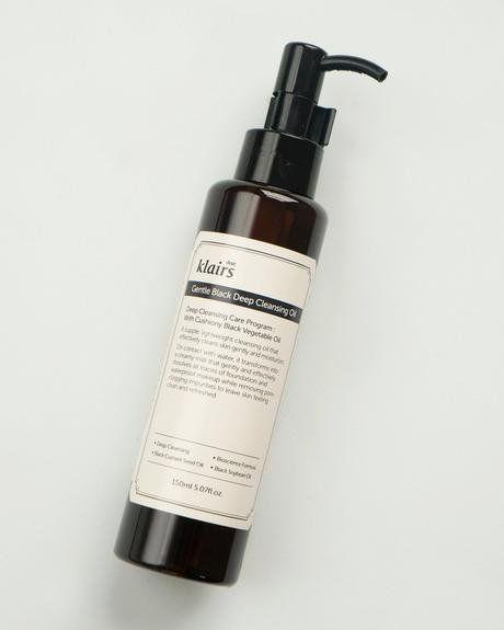 """Use your fingers and this Klairs Gentle Black Deep Cleansing Oil to melt away makeup instead of wasteful wipes. It's better for your skin and for the environment.&nbsp;<strong><a href=""""https://fave.co/2U0qwOK"""" target=""""_blank"""" rel=""""noopener noreferrer"""">Find it for $23 on Soko Glam.</a></strong>"""