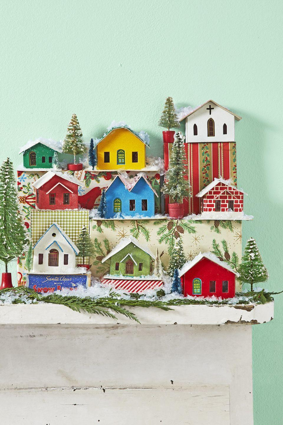 """<p>Ever wondered why these tiny, charming decorations are called """"Putz houses""""? The name actually comes from the German word """"putzen,"""" which means """"to decorate."""" Who would've thought? With or without that cute origin story though, these beauties are just the thing to place all over your home come December.</p><p><a class=""""link rapid-noclick-resp"""" href=""""https://go.redirectingat.com?id=74968X1596630&url=https%3A%2F%2Fwww.etsy.com%2Fmarket%2Fputz_houses&sref=https%3A%2F%2Fwww.countryliving.com%2Fhome-design%2Fdecorating-ideas%2Fadvice%2Fg1247%2Fholiday-decorating-1208%2F"""" rel=""""nofollow noopener"""" target=""""_blank"""" data-ylk=""""slk:SHOP PUTZ HOUSES"""">SHOP PUTZ HOUSES</a></p>"""