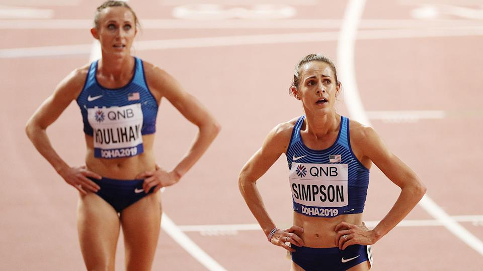 Shelby Houlihan, pictured here at the IAAF World Athletics Championships in 2019.