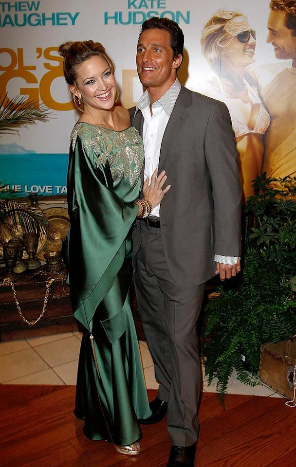 """Following the success of """"How to Lose a Guy in 10 Days"""" and """"Fool's Gold,"""" Kate Hudson and her handsome leading man, Matthew McConaughey, will likely star in many more romantic comedies in the coming years. Jon Furniss/<a href=""""http://www.wireimage.com"""" target=""""new"""">WireImage.com</a> - April 10, 2008"""