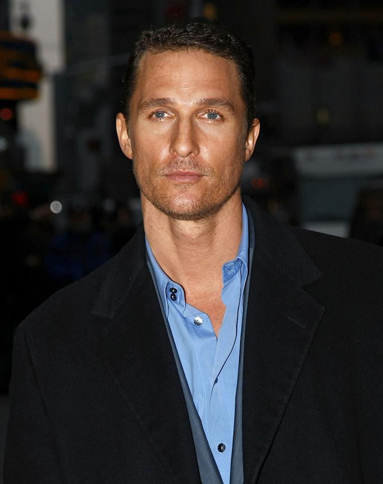 "<a href=""http://movies.yahoo.com/movie/contributor/1800018907"">Matthew McConaughey</a> visits ""Late Show with David Letterman"" - 02/04/2008"