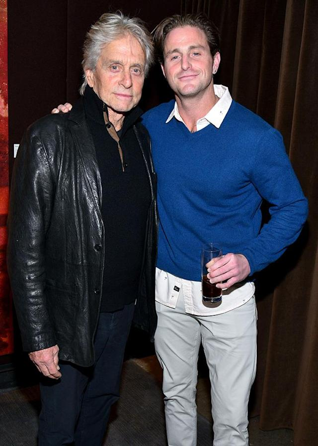 Michael Douglas with his son Cameron Douglas at the premiere of <i>Cocaine Godmother</i> on Nov. 30, 2017. (Photo: Shutterstock)