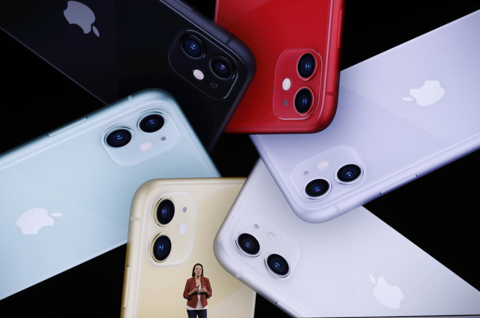 Kaiann Drance presents the new iPhone 11 at an Apple event at their headquarters in California [Photo: Getty Images]