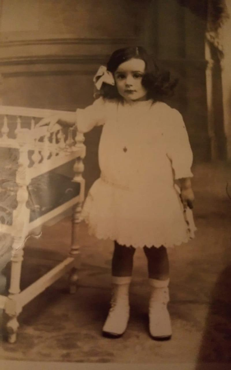 Angela Hutor age four, just a year before the 2018 Spanish Flu pandemic