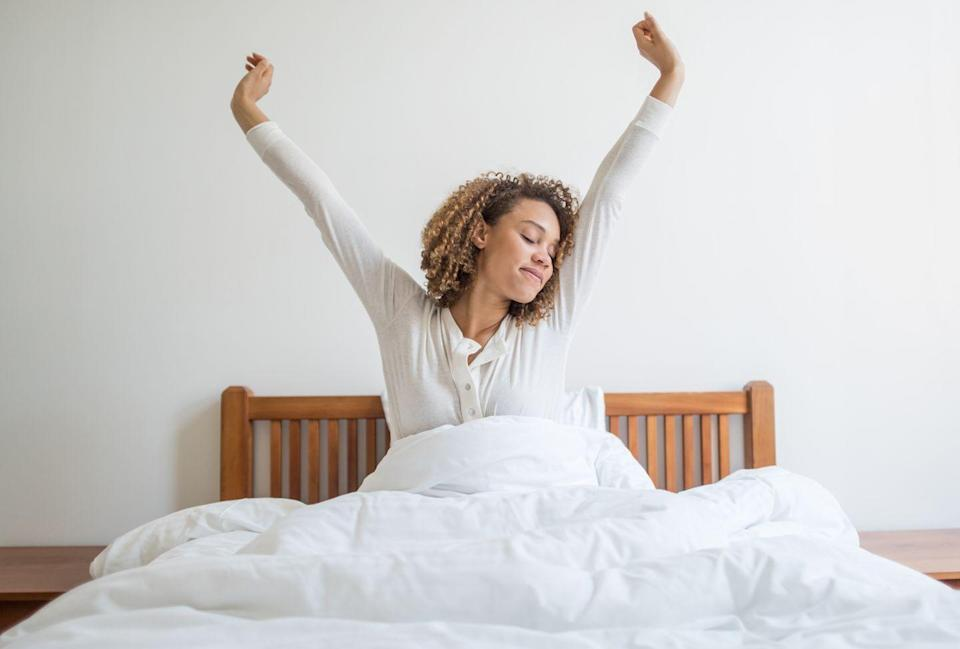 "<p>Stretching helps sleep come more easily. In addition to helping you to relax, stretching can alleviate some of the problems that tend to keep us up at night. Take leg cramps: If you tend to get them, a few weeks of stretching may reduce their severity and frequency, <a href=""https://www.sciencedirect.com/science/article/pii/S0197457219301764"" rel=""nofollow noopener"" target=""_blank"" data-ylk=""slk:finds research"" class=""link rapid-noclick-resp"">finds research</a>.</p>"