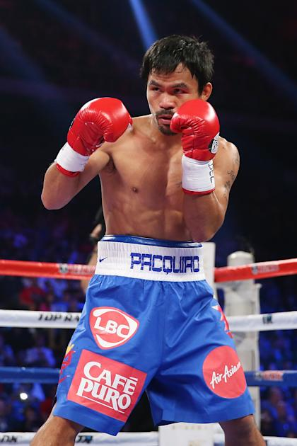 Manny Pacquiao is the highest-profile opponent remaining for Mayweather. (Getty)