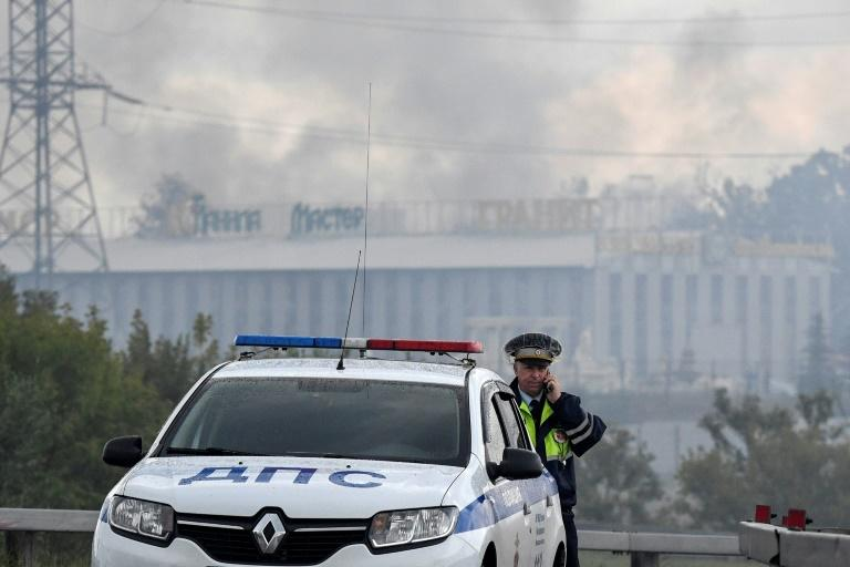 The energy ministry said electricity supplies to the public would not be affected and the fire did not damage generation equipment at the station (AFP Photo/Alexander NEMENOV)