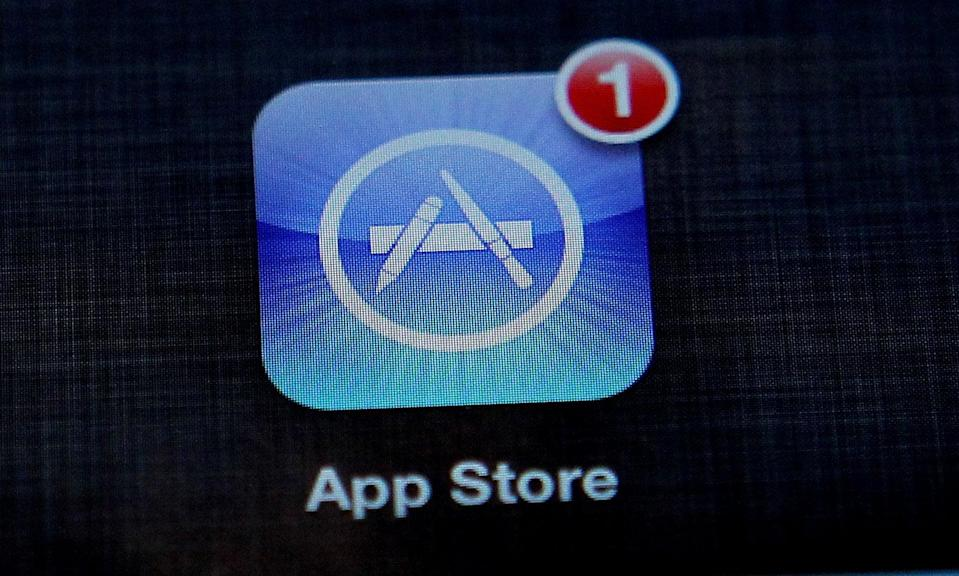 The Apple App store app on an iPad (PA Archive)