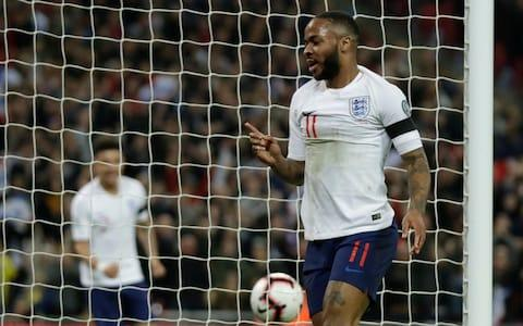 Sterling tapped home to open the scoring in the first half - Credit: AP