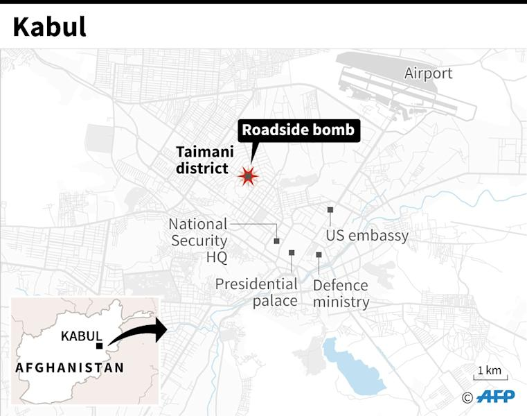 Blast destroys telecom company bus in Kabul rush hour