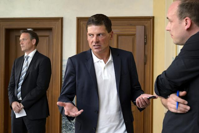Former German cyclist Jan Ullrich is in trouble with the law once again for allegedly attacking an escort at a Frankfort hotel. (FABRICE COFFRINI/AFP/Getty Images)