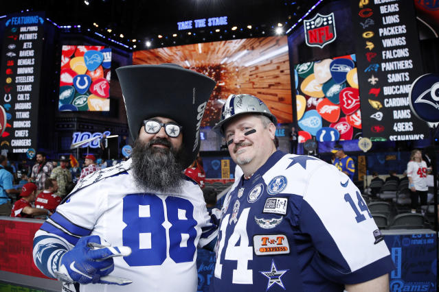 "<a class=""link rapid-noclick-resp"" href=""/nfl/teams/dallas/"" data-ylk=""slk:Cowboys"">Cowboys</a> fans can gloat, the numbers say they're the best. (Getty)"