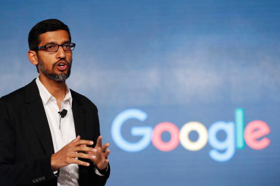 In this Wednesday, Jan. 4, 2017, file photo, Google CEO Sundar Pichai speaks during a news conference on Google's collaboration with small scale local businesses in New Delhi.