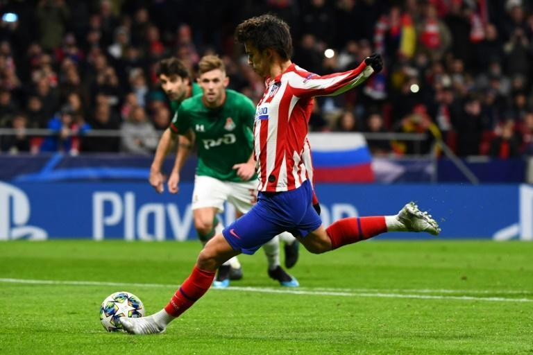Joao Felix scored from the penalty spot against Lokomotiv last season