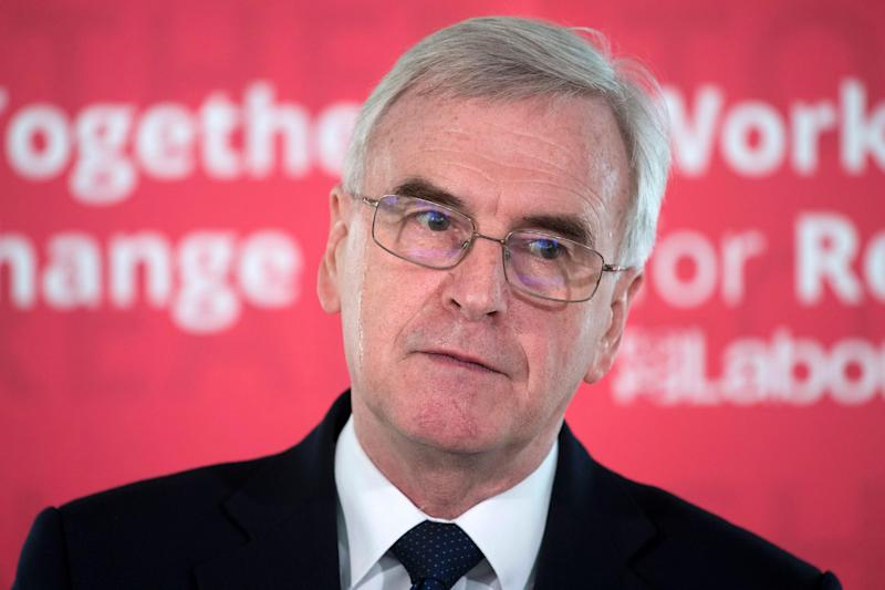 John McDonnell said only his party would stand up for workers and small businesses to make the tax system fair: Getty