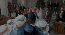 """<p>It isn't typical to propose to someone while they're at the alter, but at least Tom didn't show up after Hannah said """"I do"""" when he went to stop her wedding in Scotland. All's fair in love and war, apparently. </p>"""