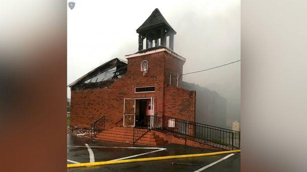 PHOTO: The Mount Pleasant Baptist Church in Opelousas, Louisiana, April 4, 2019, is pictured after a fire in this picture obtained from social media. (Social Media/Louisiana Office Of State Fire Marshal/Reuters)
