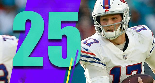 <p>Buffalo's offense has been terrible most of the season, but that's a talent issue. The Bills fight hard every game and they probably should have won at Miami on Sunday. (Josh Allen) </p>