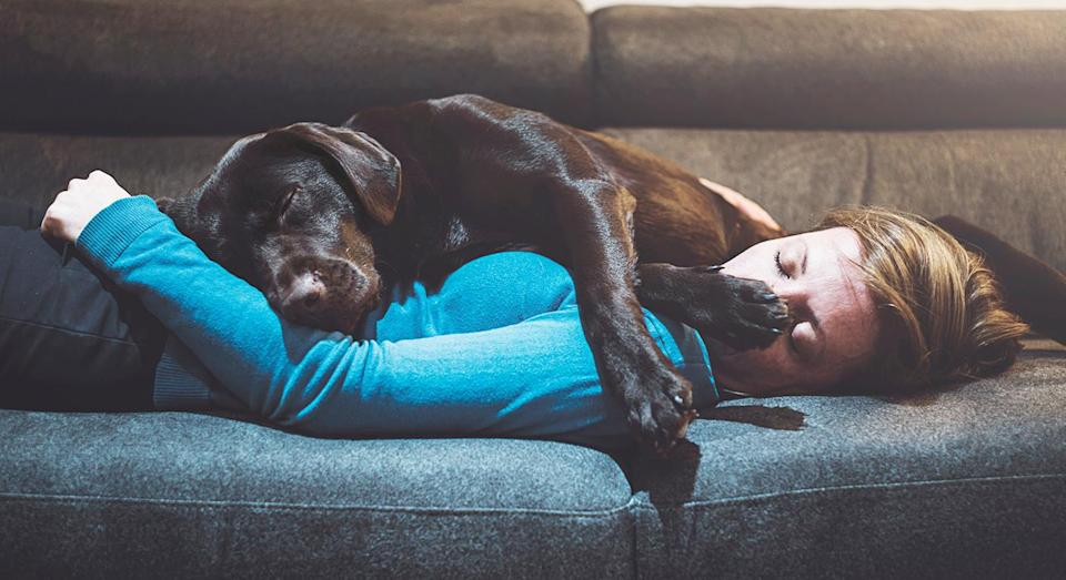 Single people joked about their close relationships with their pets. [Photo: Getty]