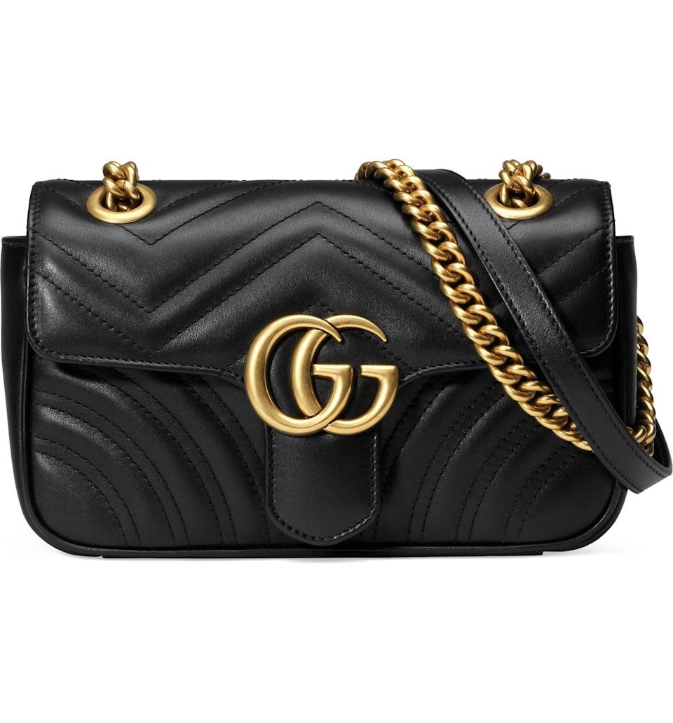 <p>The ultimate classic, they'll swoon over this <span>Gucci Mini GG Marmont 2.0 Matelassé Leather Shoulder Bag</span> ($1,890).</p>