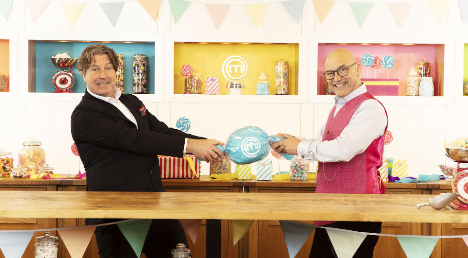 WARNING: Embargoed for publication until 00:00:01 on 08/08/2021 - Programme Name: Celebrity Masterchef S16 - TX: n/a - Episode: Celebrity Masterchef S16 - Judge Generics (No. Judge Generics) - Picture Shows: **STRICTLY EMBARGOED NOT FOR PUBLICATION UNTIL 00:01 HRS ON SUNDAY 8TH AUGUST 2021** John Torode, Gregg Wallace - (C) Shine TV - Photographer: Production