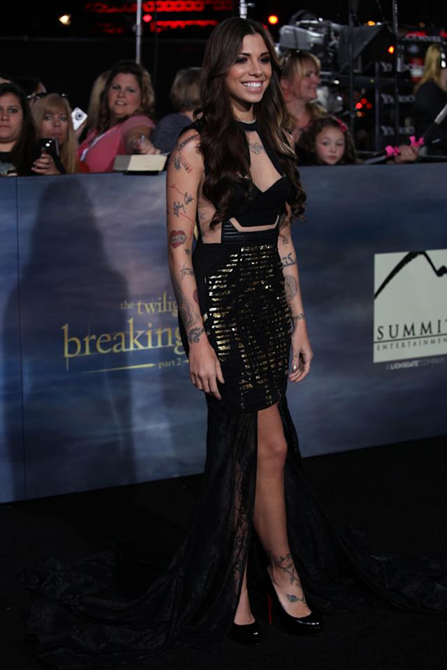 "Christina Perri arrives at ""The Twilight Saga: Breaking Dawn - Part 2"" Los Angeles premiere at the Nokia Theatre L.A. Live on November 12, 2012 in Los Angeles, California."